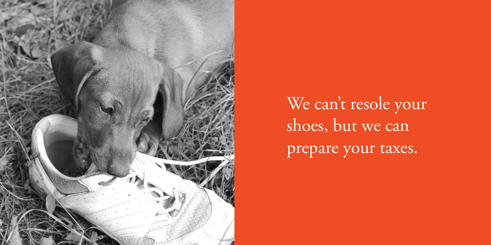 We can't resole your shoes, but we can prepare your taxes.