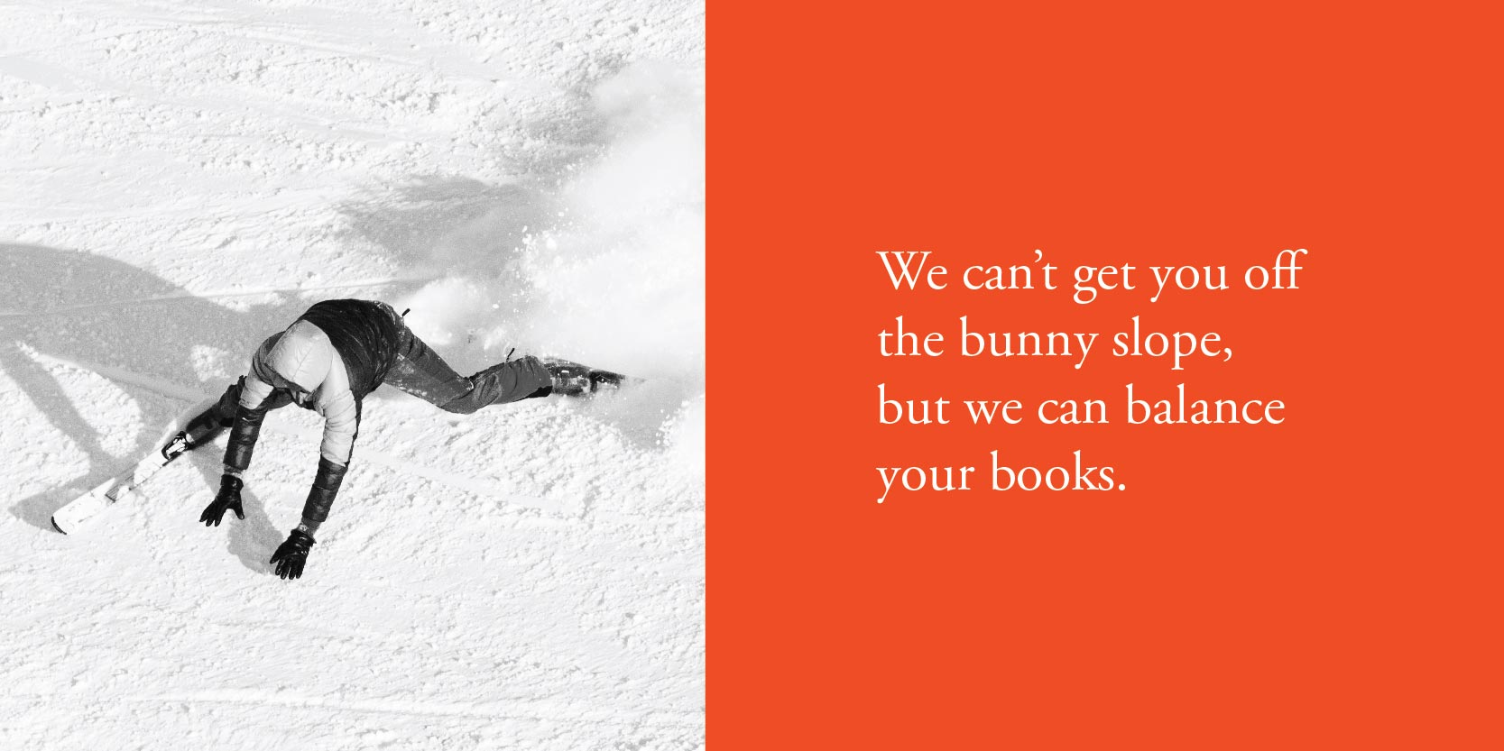 We can't get you off the bunny slope, but we can balance your books.
